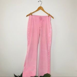 Baby Pink Velour Track Pants